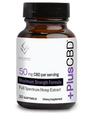 PlusCBD - Softgel Capsules - 30ct - 50MG Maximum Strength - Bottle