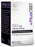 PlusCBD - Softgel Capsules - 60ct - 50MG Maximum Strength - Box