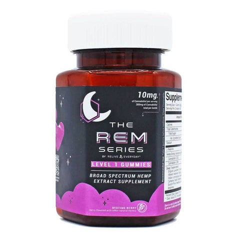 Relive Everyday - RE-Assure Hemp CBD Gummies REM Series - Level 1 - Bedtime Berry