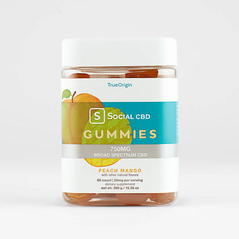 Social CBD Original BS Gummies Peach Mango - 60ct
