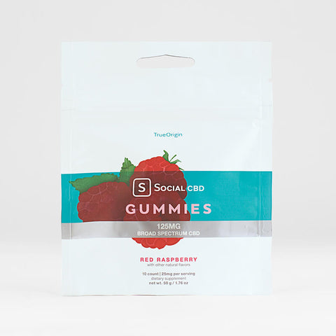 Social CBD Original BS Gummies Red Raspberry - 10ct