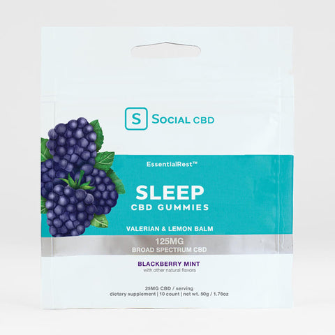 Social CBD Sleep BS Gummies Blackberry Mint - 10ct