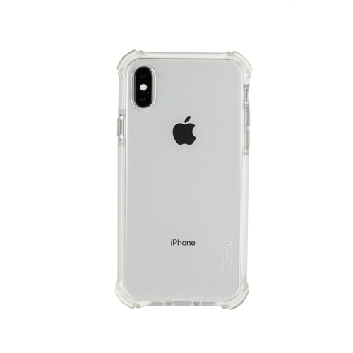 TUFF 8 BACK CASE WITH WHITE TRIM TRIPLE INJECTION FOR IPHONE X/Xs