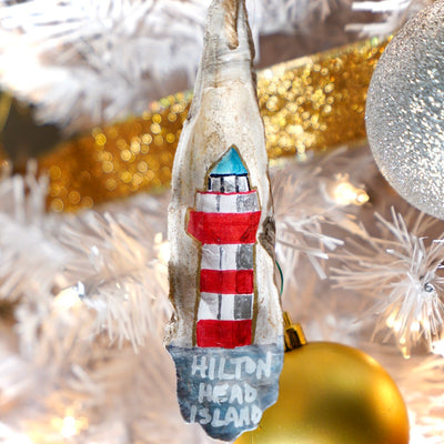 Hilton Head Christmas Oyster Ornament - Daufuskie Difference