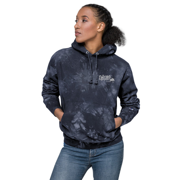 Unisex Champion tie-dye hoodie - Daufuskie Difference