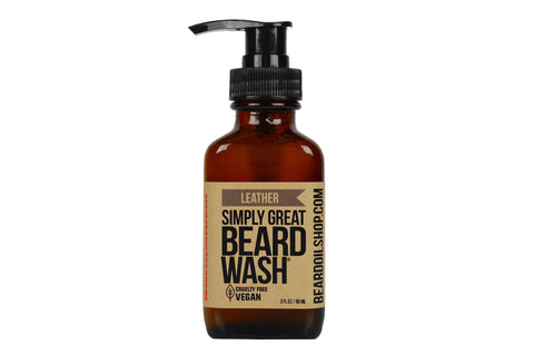 Simply Great Beard Wash - Leather