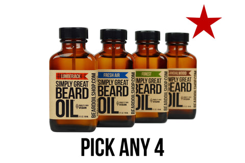 Any 4 Simply Great Beard Oils