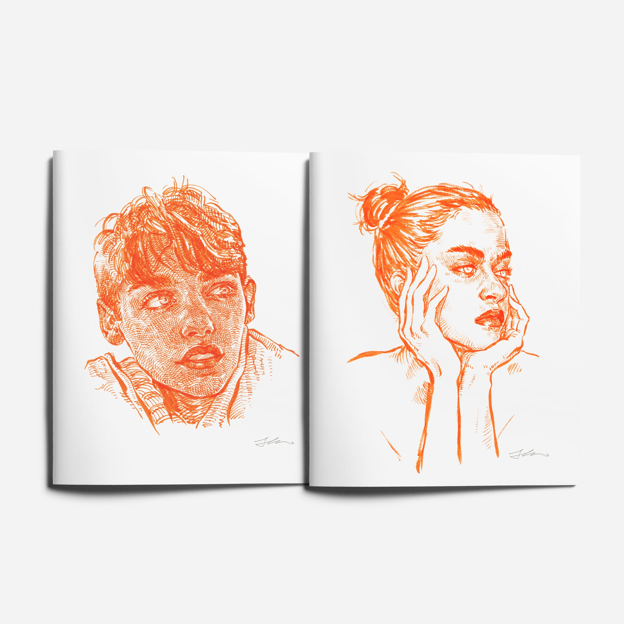 Tangerine Journal/Notebook - 2 books🍊