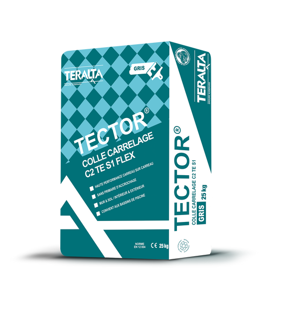 Tector Colle carrelage Gris (25kg)