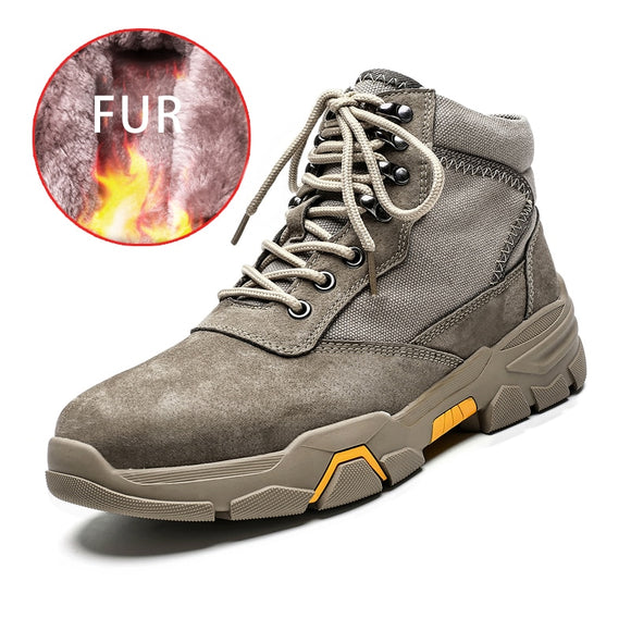 Hot Sale Men Winter Warm Snow Boots Waterproof Boots Men Plush Lace Up Footwear Ankle Male Casual Shoes Outdoor Fashion Big Size