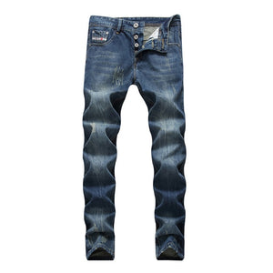 2020 Famous Dsel Brand Fashion Designer Jeans Men Straight Dark Blue Color Printed Mens Jeans Ripped Jeans,100% Cotton 28-40