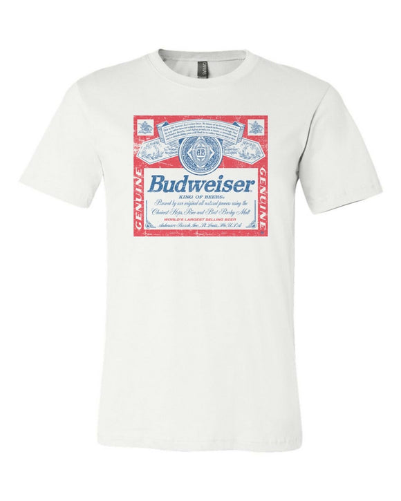 Budweiser Distressed T-Shirt Tee S-3XL Soft Tee New