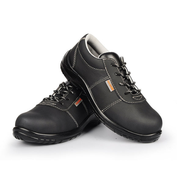 Anti-smashing And Anti-stab Safety Shoes Men's Breathable Sports Work Shoes Genuine Leather Lightweight Safety Shoes
