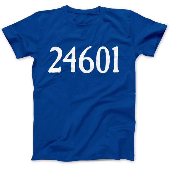 Inspired By Les Miserables 24601 T-Shirt 100% Premium Cotton Tee T-SHIRT New2017 More Size and Colors-A771