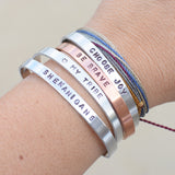 Customized Thin Phraseology Cuff