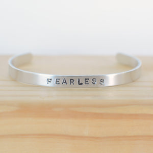 Fearless Thin Phraseology Cuff