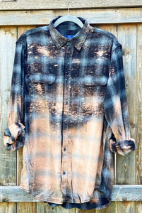 Distressed Flannel - Black