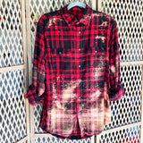 Distressed Flannel - Red