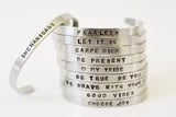 Faith Hope and Love Thin Phraseology Cuff