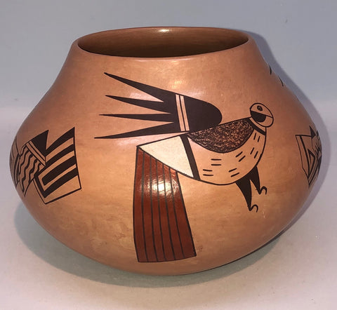 Pottery Shard and Bird Jar by Valerie Kahe - Hopi