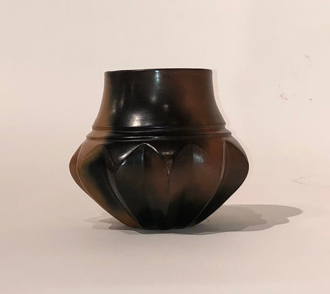 "Ribbed Jar 5.25""H x 7""Diameter by Samuel Manymules - Navajo"