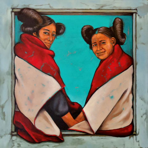 Hopi Sisters by Karen Clarkson - Choctaw