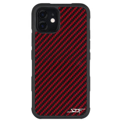 iPhone 11 Red Carbon Fiber Case | ARMOR Series - Allccess