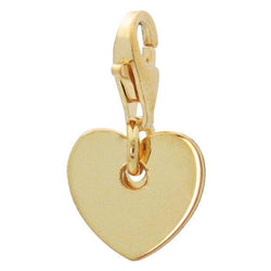 Gold Plated Silver Heart Charm Pendant - Allccess