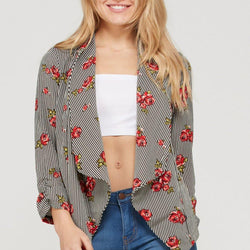 Striped Fly Away Blazer - Allccess