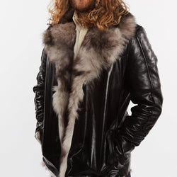 Hillsborough Toscana Shearling Men's Fur Leather Jacket - Clearance - Allccess