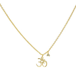 Mini Golden OHM Pendant Necklace - Allccess