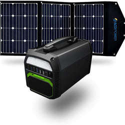 ACOPOWER 500W Generator and 120W Portable Solar Panel - Allccess