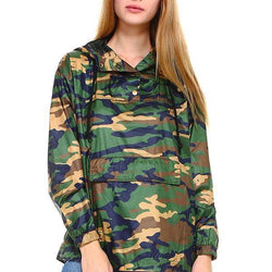 Camouflage Hooded Windbreaker - Allccess