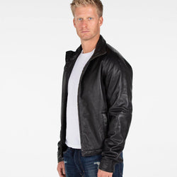 B&A Classic Men's Lambskin Leather Jacket - Allccess