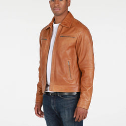 Mens Cameron Leather Jacket - Allccess
