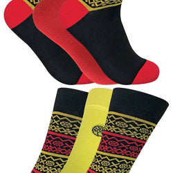 6 Pack Mens Colourful Patterned Bamboo Socks 7-11 UK - Allccess