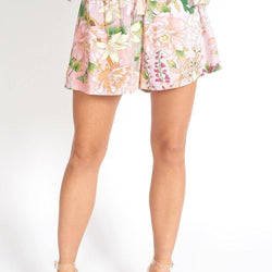 Flowers On My Mind Floral Cloth Shorts - Allccess