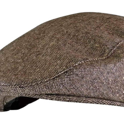 Mens Wool Blend Flat Cap - Allccess