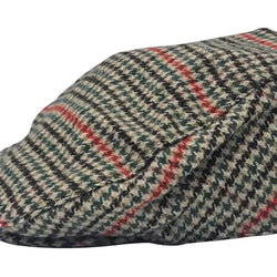 Mens Checked Wool Blend Flat Cap - Allccess