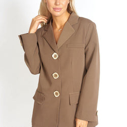 Take Me Seriously Oversized Blazer - Allccess