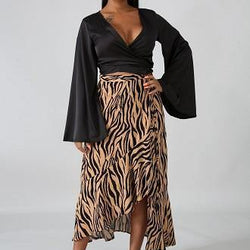 Dominique Print Skirt - Allccess