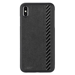 iPhone XS Max Alcantara & Real Carbon Fiber Case | CLASSIC Series - Allccess