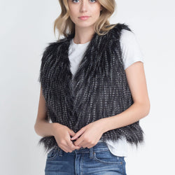 Women's Faux Fur Sleeveless Vest - Allccess