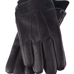 Mens Fleece Lined Thermal Leather Gloves - Allccess