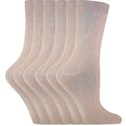 6 Pairs Ladies Plain Coloured Cotton Socks - Allccess