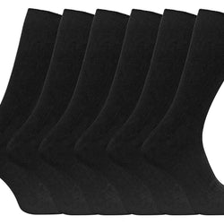 6 Pack Mens 100% Cotton Socks - Allccess