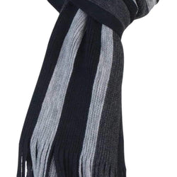 Mens Knitted Striped Winter Scarf - Allccess