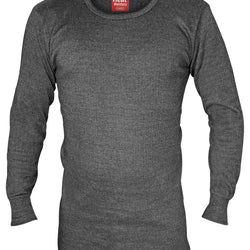 Mens Cotton Thermal Underwear Long Sleeve Vest - Allccess