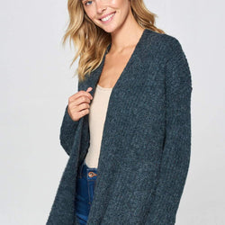 THICK KNIT CARDIGAN - Allccess