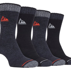 4 Pairs Mens Cushion Sole Hiking Socks - Allccess